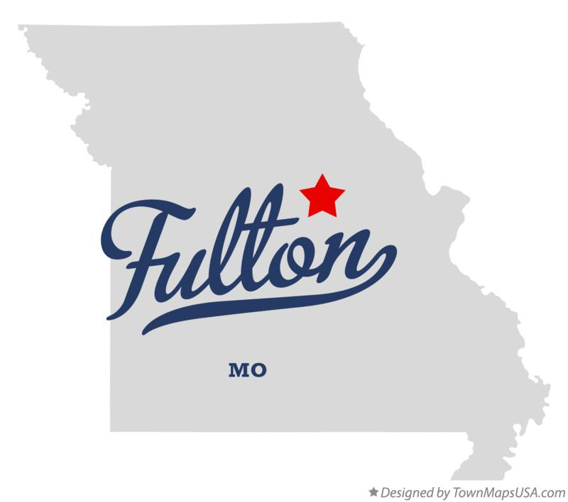 Map of Fulton Missouri MO