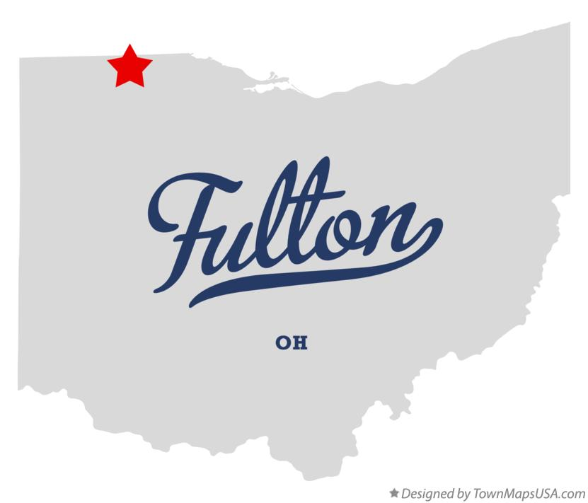 Map of Fulton Ohio OH