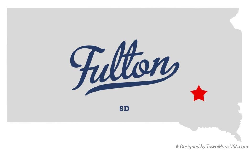Map of Fulton South Dakota SD