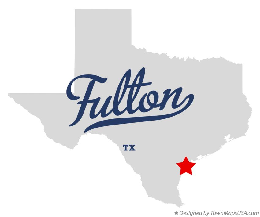 Map of Fulton Texas TX