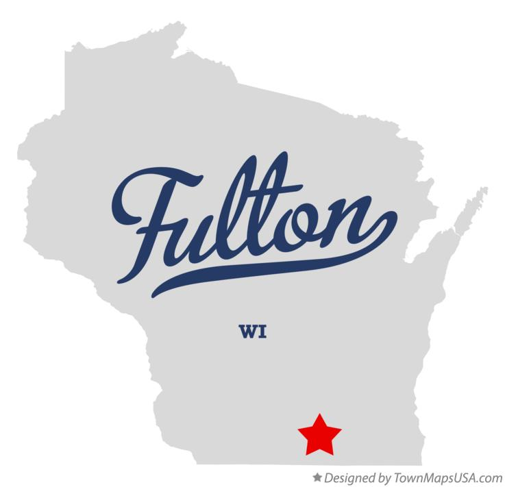 Map of Fulton Wisconsin WI