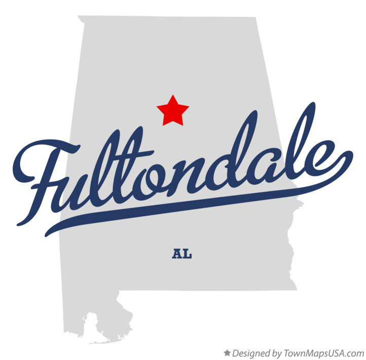 Map of Fultondale Alabama AL
