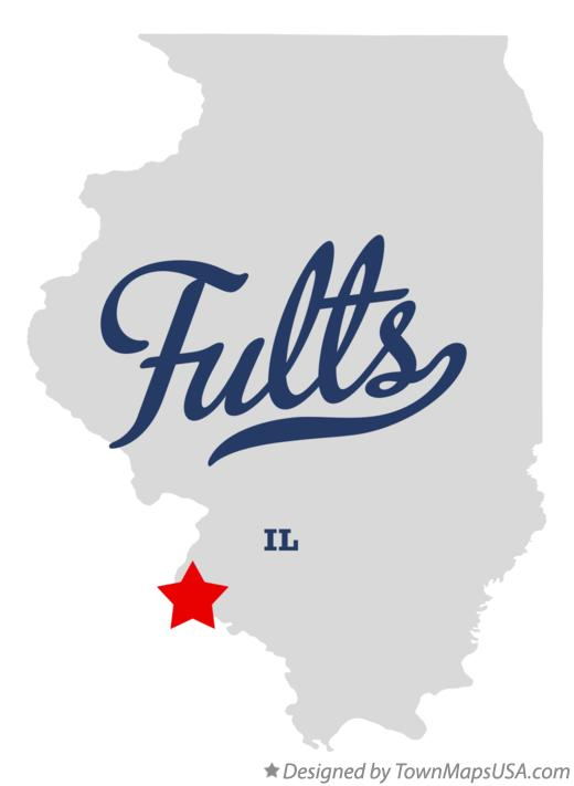 Map of Fults Illinois IL