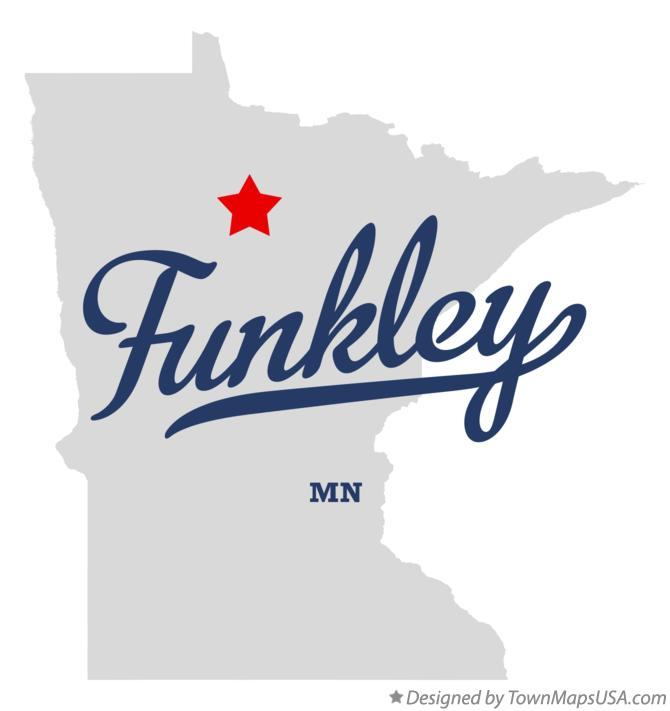 Map of Funkley Minnesota MN