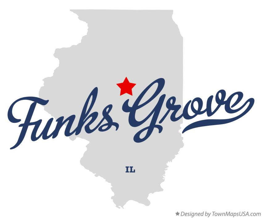Map of Funks Grove Illinois IL