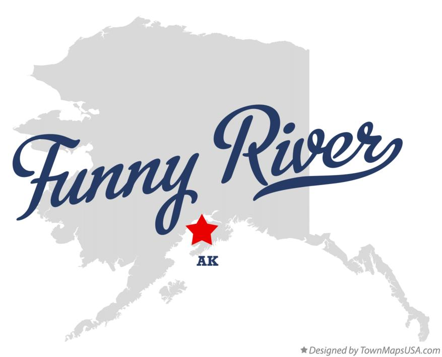 Map of Funny River Alaska AK