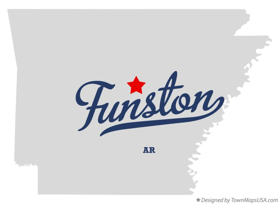 Map of Funston Arkansas AR