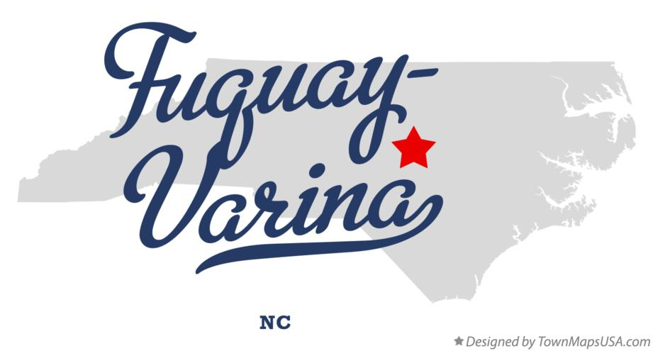 Map of Fuquay-Varina North Carolina NC