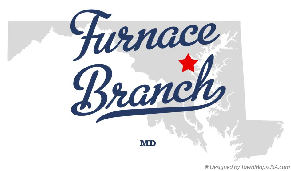 Map of Furnace Branch Maryland MD