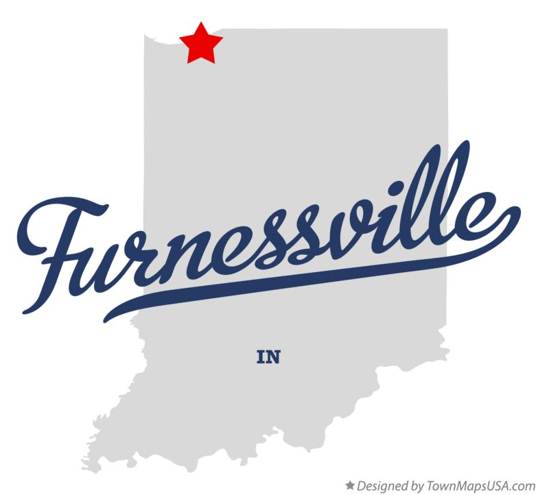 Map of Furnessville Indiana IN
