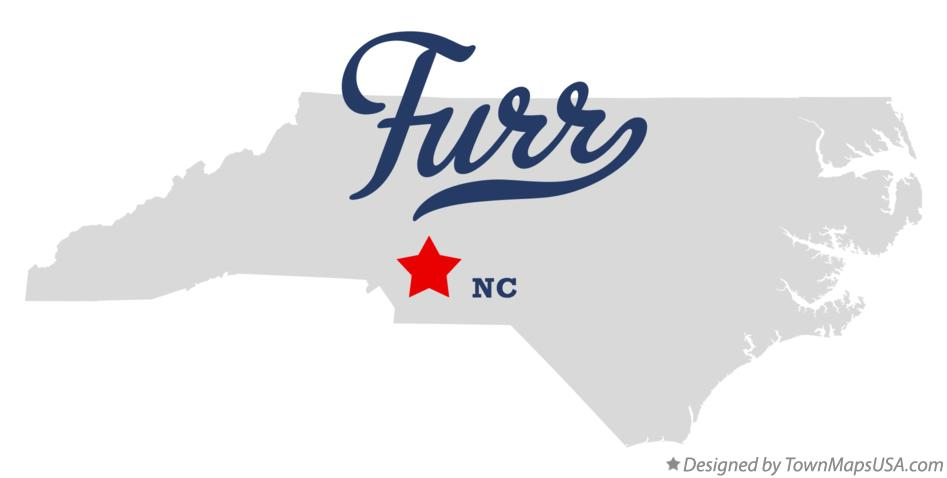 Map of Furr North Carolina NC