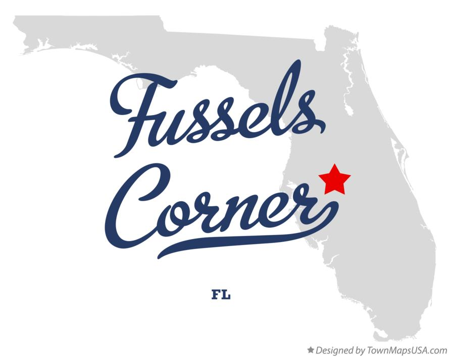 Map of Fussels Corner Florida FL
