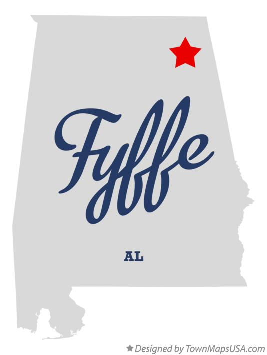 Map of Fyffe Alabama AL