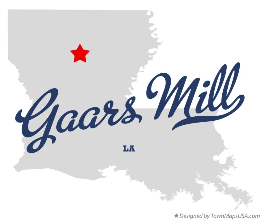Map of Gaars Mill Louisiana LA