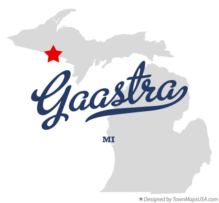 Map of Gaastra Michigan MI