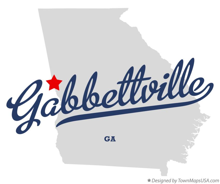 Map of Gabbettville Georgia GA