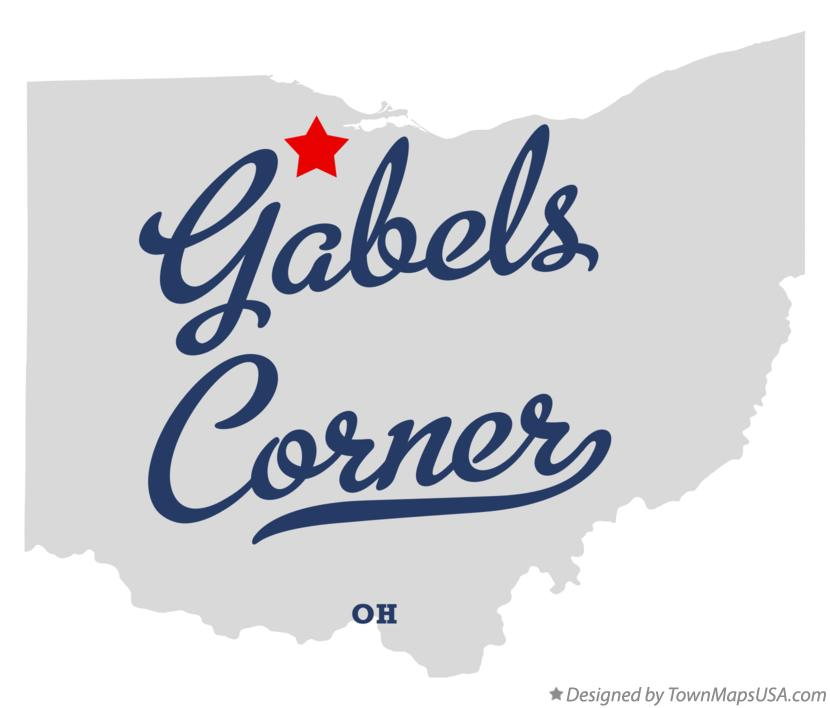 Map of Gabels Corner Ohio OH