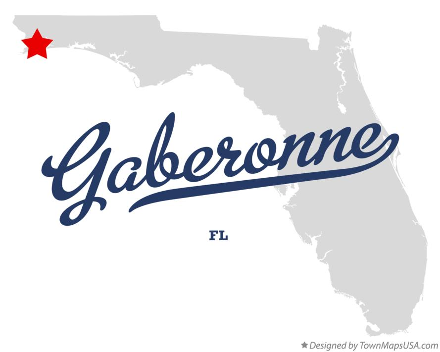 Map of Gaberonne Florida FL