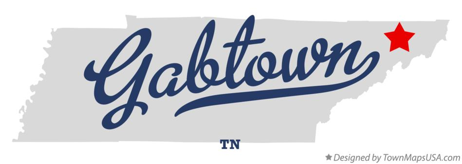 Map of Gabtown Tennessee TN