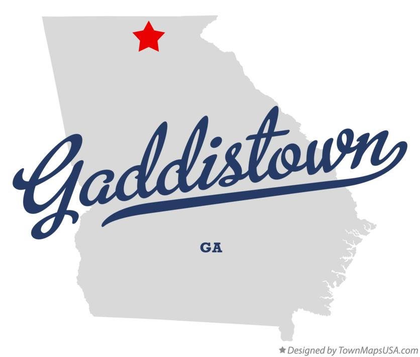 Map of Gaddistown Georgia GA