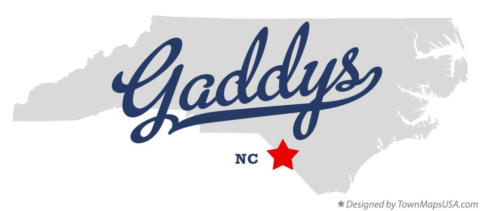 Map of Gaddys North Carolina NC