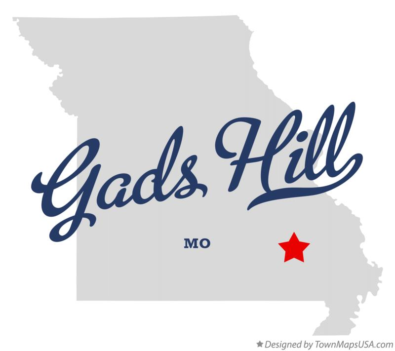 Map of Gads Hill Missouri MO