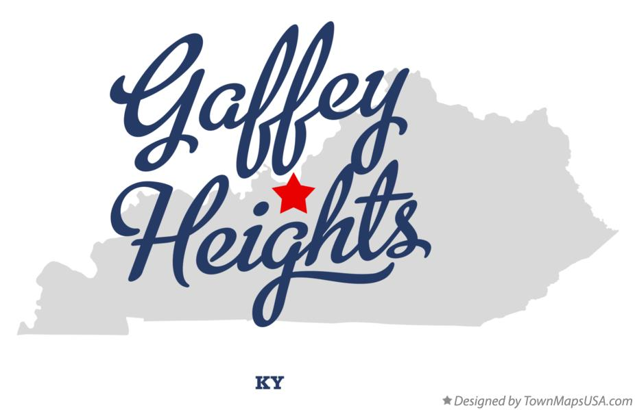 Map of Gaffey Heights Kentucky KY