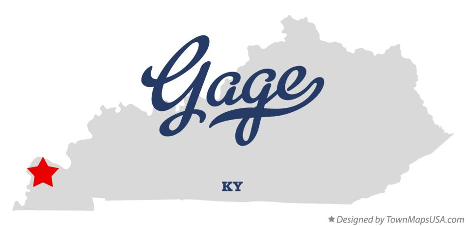 Map of Gage Kentucky KY