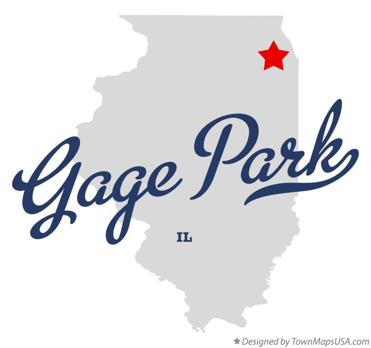 Map of Gage Park Illinois IL