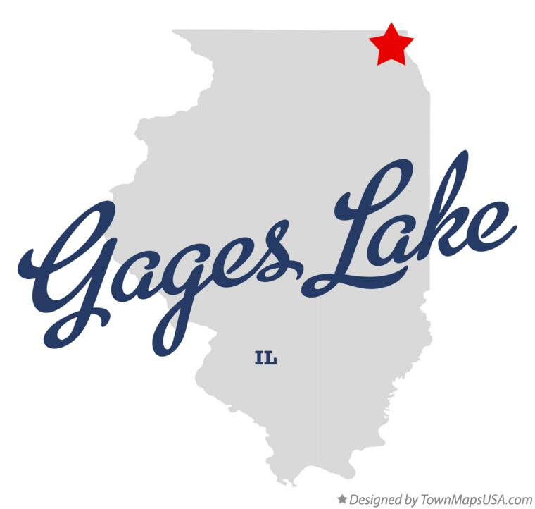 Map of Gages Lake Illinois IL