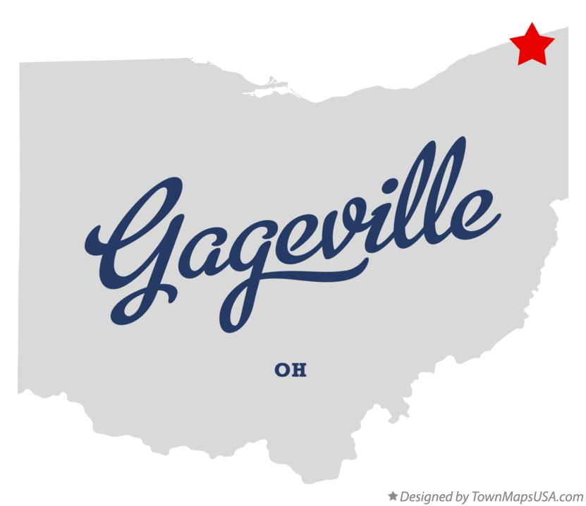 Map of Gageville Ohio OH