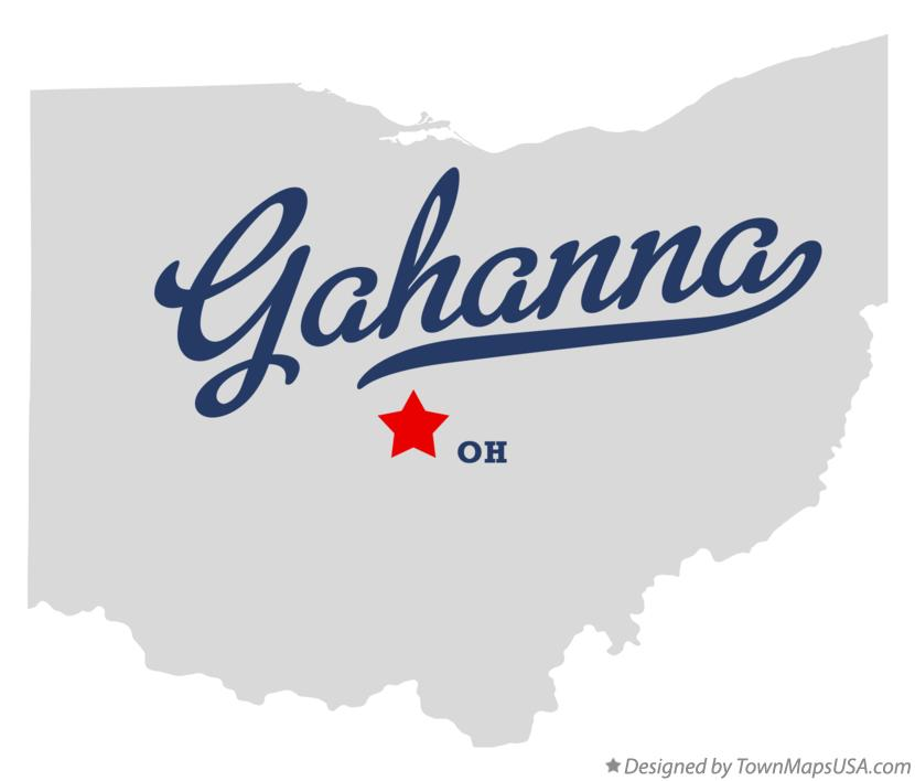 Map of Gahanna Ohio OH