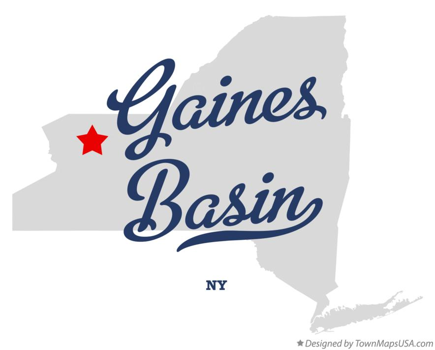 Map of Gaines Basin New York NY