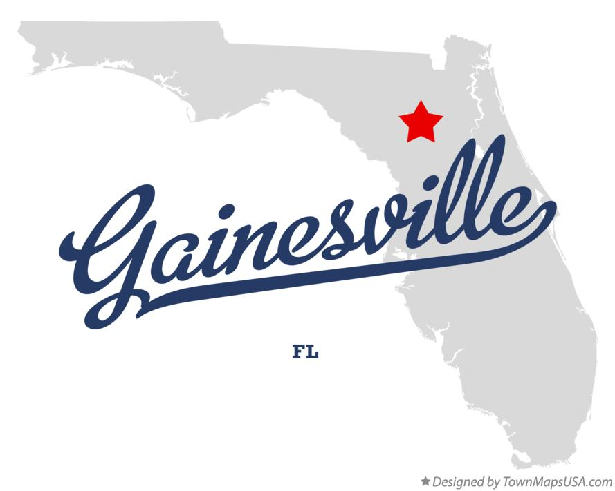 Map Of Gainesville Fl Florida