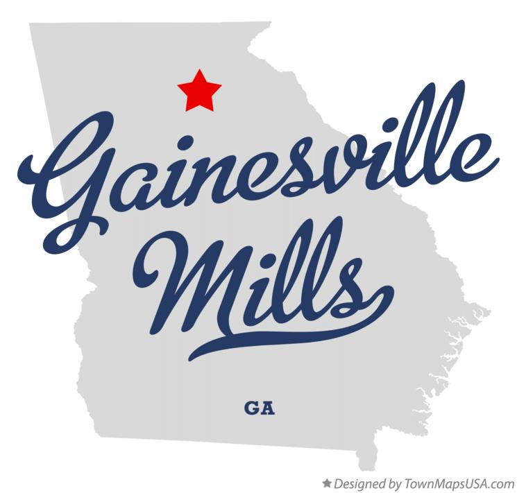 Map of Gainesville Mills Georgia GA