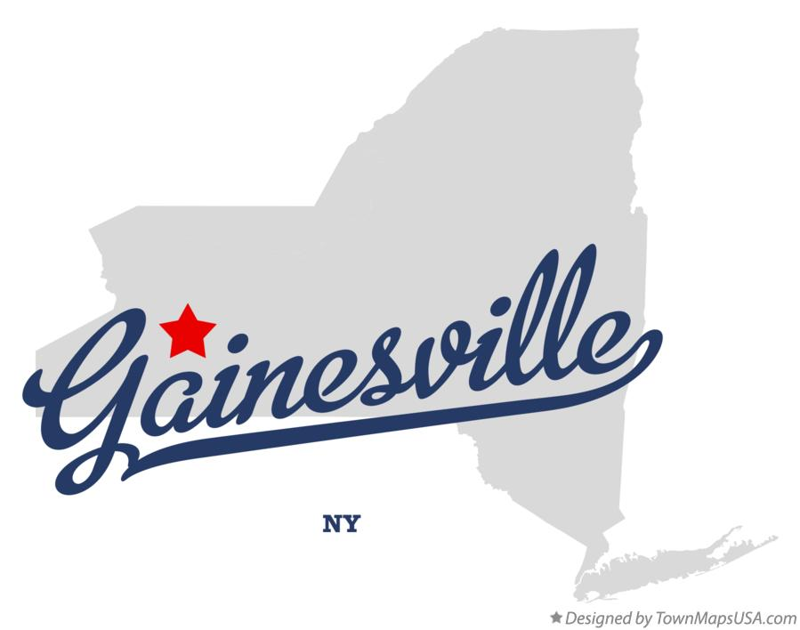 Map of Gainesville New York NY