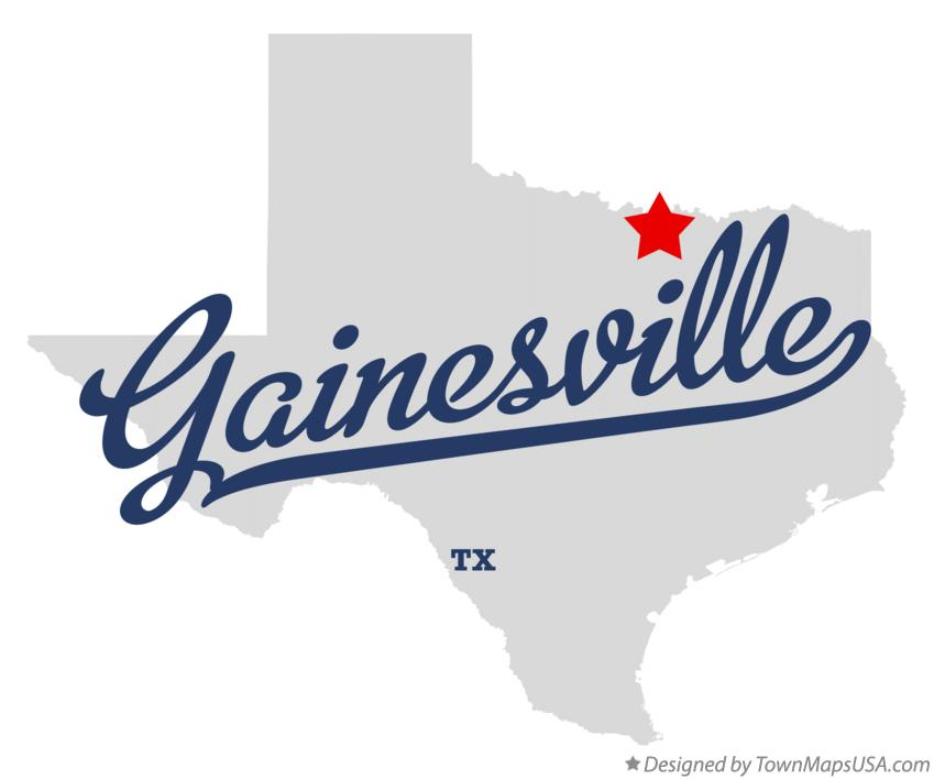 Map of Gainesville Texas TX