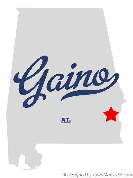 Map of Gaino Alabama AL