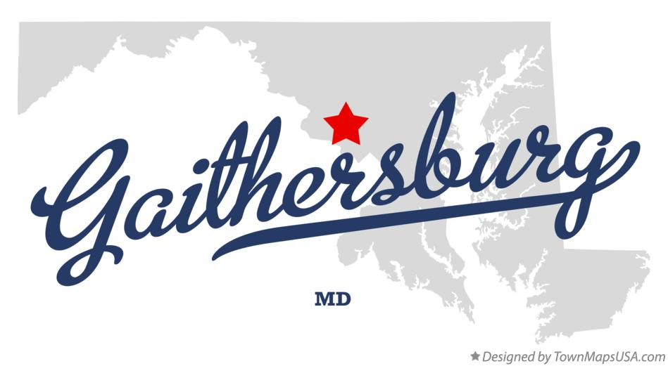 Map of Gaithersburg Maryland MD