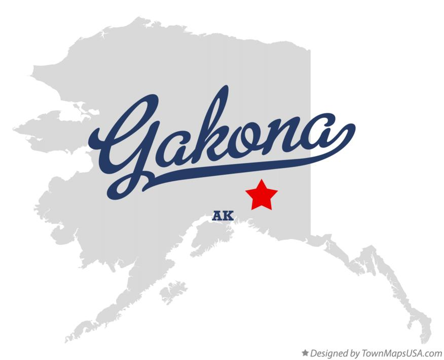 Map of Gakona Alaska AK