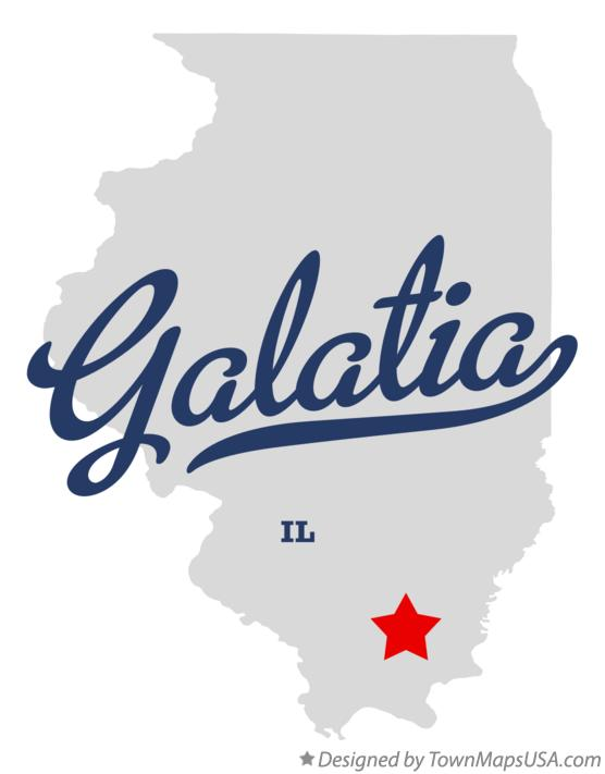 Map of Galatia Illinois IL