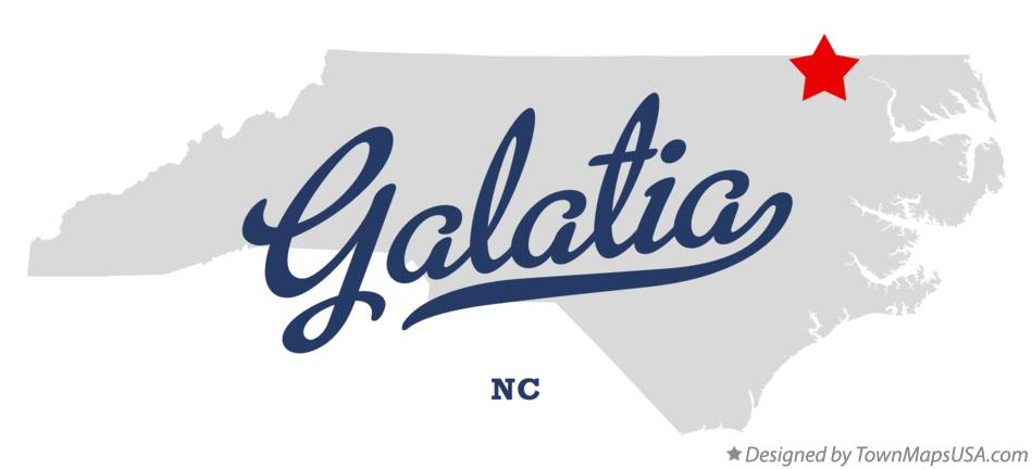Map of Galatia North Carolina NC