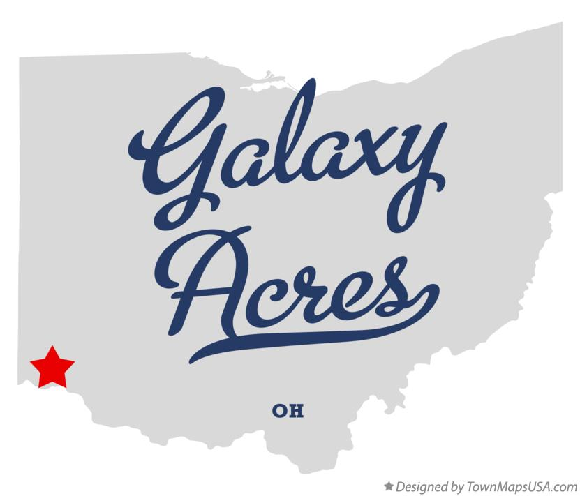 Map of Galaxy Acres Ohio OH