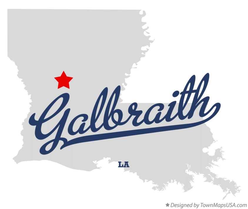 Map of Galbraith Louisiana LA