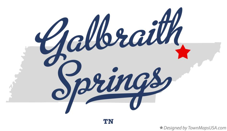 Map of Galbraith Springs Tennessee TN