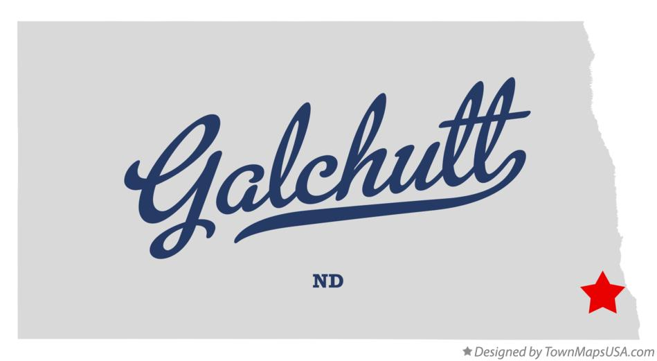 Map of Galchutt North Dakota ND