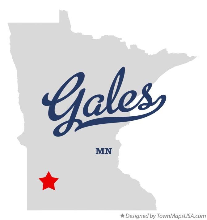 Map of Gales Minnesota MN