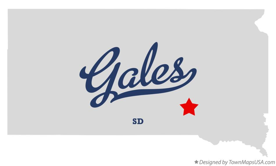 Map of Gales South Dakota SD