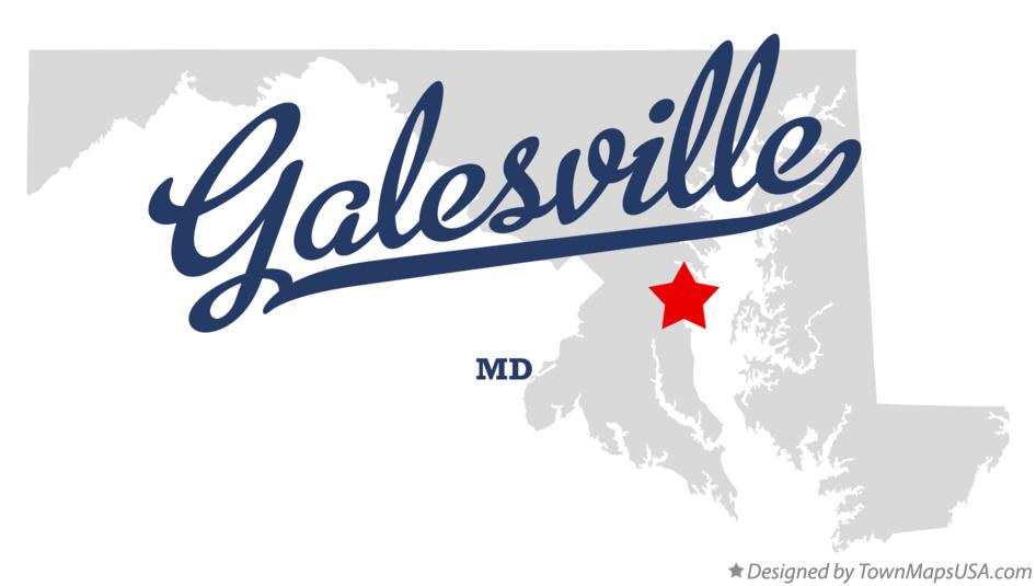 Map of Galesville Maryland MD