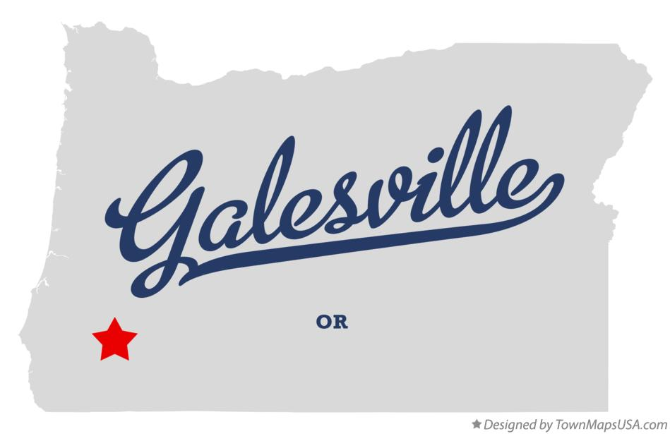 Map of Galesville Oregon OR